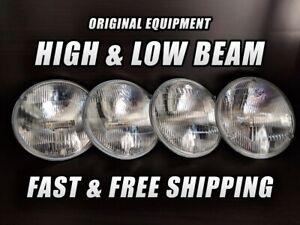 OE Front Halogen Headlight Bulb for GMC K15/K1500 Suburban 1967-1972 High Low x4