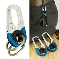 Keychain Key Ring Hook Outdoor Stainless Steel Buckle Carabiner Climbing AU
