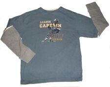 Boys Ruff Hewn Double Sleeve Cotton Football Shirt M 10-12