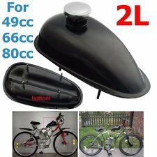 Motorized Bicycle 2L Fuel Gas Tank + Cap For Honda Yamaha Suzuki 49cc 66cc 80cc