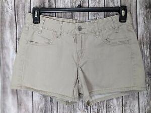 Levi's Women's Juniors Tan/Khaki Jean Shorts Red Tab Size 7JR