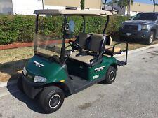 Green 2017 Ezgo rxv 4 passenger seat golf cart AC MOTOR 48v lights FAST