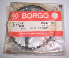 DUCATI BORGO PISTON RINGS VINTAGE NOS MADE IN ITALY 76.4mm