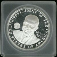 GENERAL DWIGHT D. EISENHOWER 1 OZ .999 SILVER LARGE COIN!!  🎀🎀  AC-476