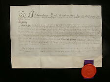 Lord High Almoners Professor of Arabic Robert Bensly - Rare 1887 Letters Patent
