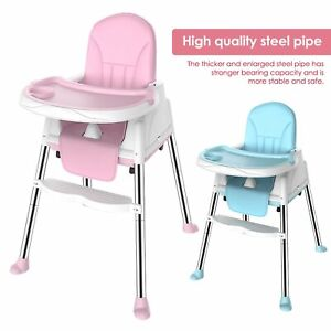 3-In-1 Adjustable Baby Highchair Infant High Feeding Seat Toddler Table Chair UK