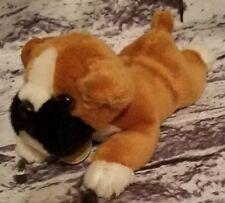 "AURORA WORLD MIYONI BOXER PUPPY DOG PLUSH LYING DOWN 9.5"" STUFFED ANIMAL"
