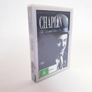 Chaplin The Legend Lives On Movie 5 x DVD Collectors Edition Region 4 AUS