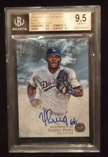 Yasiel Puig 2013 Bowman Inception Prospect Autographs AUTO BGS 9.5 Blue #D /75
