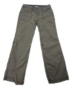 REI Women's Convertible Outdoor Hiking Pants Green UPF 50+ Size 6 Roll Tab Leg