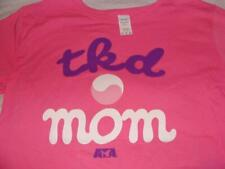 NEW ATA PINK TKD MOM CREW NECK T SHIRT SIZE XL 2XL TAEKWONDO ~ FREE US SHIP
