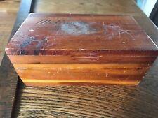"""Vintage Cedar Box 7"""" x 4"""" x 2.5"""" Mother"""