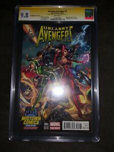 Uncanny Avengers #1 CGC SS Signature Autograph Stan Lee 9.8 Midtown Variant