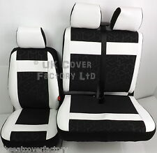 FORD TRANSIT MK6 Van  Seat Covers-Made to Measure Sports PVC Leather Trims X53E