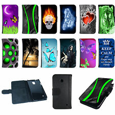 Book Tasche für Samsung Galaxy Handy Design Flip Case Cover Hülle Etui Motiv
