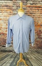 Ted Baker London Men's Blue Stripe Button Up FLIP CUFFS Dress Shirt 15/5 34/35