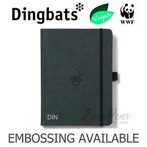 Dingbats* Green Deer - Wildlife A4 Hardcover Notebook - Grid - Embossing