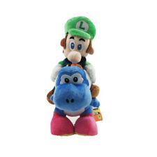 "Little Buddy Super Mario Plushie Luigi Riding on Blue Yoshi Plush Doll Toy 10"""