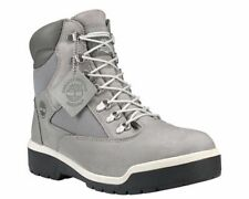 "Timberland 6""  Waterproof Field Boots Cement Grey Nubuck  Men's  Size 12  A1JPJ"