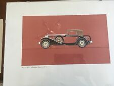 Vintage 1950s Mercedes Benz Original 6 Prints From with Letter form Benz