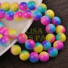 New! 20pcs 12mm Round Glass Loose Spacer Beads Jewelry Findings Rose&Blue&Yellow
