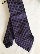 Burberry Square Pattern Mix Red & Blue Mix Silk Tie New