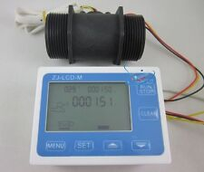"G1-1/2 1.5"" Flow Water Sensor Meter+LCD Display Quantitative Control 5-200L/min"