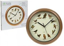 Singing Birds Wall Clock Sounds Every Hour 12 Songs Nocturnal Sleep Mode-792008