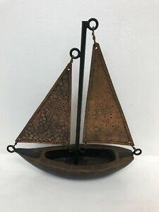 Marks & Spencer Copper & Wooden Boat Ornament  B15