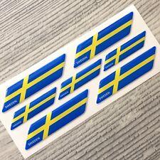 Sweden flag 3d domed emblem decal sticker BMW Ferrari VOLVO VW AUDI