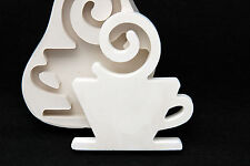 Coffee Glass, Silicone Mold Chocolate Polymer Clay Jewelry Soap Melting Wax