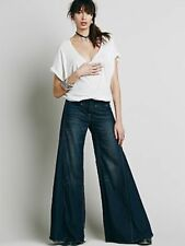 Free People F694P525 Extreme Vintage Chambray Flare in Autumn Night  UK6  / XS