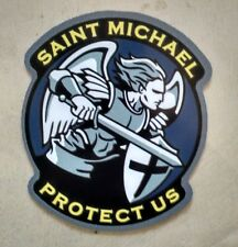 "St Saint Michael Patron Saint of Police Cops Decal (4"")"