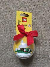 LEGO di Natale Neve Capanna Vacanza Bauble NUOVO