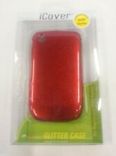 iCover Glitter Case For BlackBerry Curve 8520 8530 9300 Red Cover Fitted Cas 9E