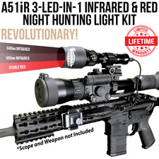 Wicked Lights A51iR 3-LED-In-1 Infrared & Red Night Hunting Light Kit W2054