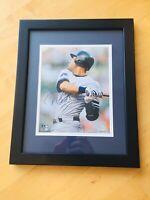 Derek Jeter 8x10 Signed Autograph, Custom Framed, 2500th Hit, Steiner COA