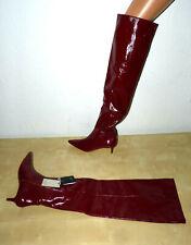 ZARA Hochwertig Stylish Overknee Stiefel ECHT-LEDER rot extravagant edel