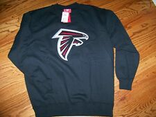 Atlanta Falcons Throwback Logo Crew Neck Sweatshirt Mens Black Large Applique