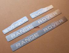 S/steel Door sill scuff plate Insert Trim For Range Rover Evoque 4Door 2012 +