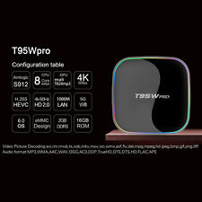 T95W pro Amlogic S912 Android TV Box Octa core 2G/16G Android 6.0 4k*2k wifi