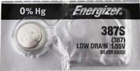 1 NEW ENERGIZER 387S  Silver Oxide Watch Battery