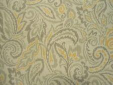 Pretty Threshold Shower Curtain in White with Gray and Yellow Swirls
