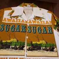 Vintage 60s 70s Loop Collar Hawaiian Shirt Rare