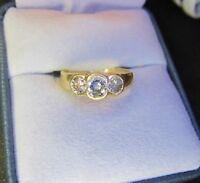 ESTATE SALE BEAUTIFUL VINTAGE B.H (EFFY)14K GOLD APPROX .86 CT DIAMOND RING