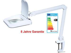 Helle 10W LED XL Lupenlampe 960LUM für Reparatur+Uhren+Edelmetallhandel 5J Garan