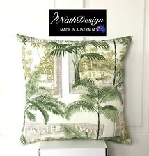 Indoor/Outdoor Green Tropical Palm Tree Cushion Cover/ Tommy Bahama style