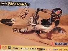 TRAVIS PASTRANA autographed 13x19 color poster    AWESOME MOTORCROSS POSE