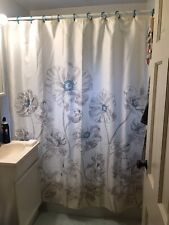 "Envogue 100% Cotton Floral Fabric Shower Curtain 72"" x 72"" New"