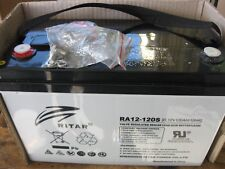 RITAR AGM BATTERY DEEP CYCLE 12v 120 AMP HOUR NEW GREAT FOR SOLAR & CARAVANS